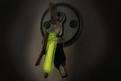 Ideal keyring - never lose your keys in the dark again.
