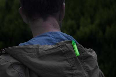 Supplied clip makes Ni-Glo suitable for attaching to jackets, hoodies, rucksacks etc. Always be able to locate the guy in front of you ...