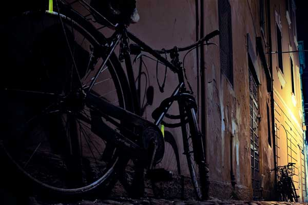 Some nights are darker than others – make sure you find your bike to get home safely. Mark your bike lock.